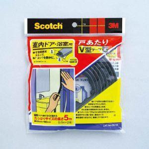 スコッチ 室内ドア・浴室用 戸あたりV型テープ 黒 6.2mm×8.6mm×5.0m EN-55|akibaoo
