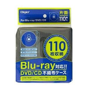 ナカバヤシ BD-003-110BK Digio2 Blu-ray片面不織布ケース 110枚入 110枚収納 ブラック|akibaoo