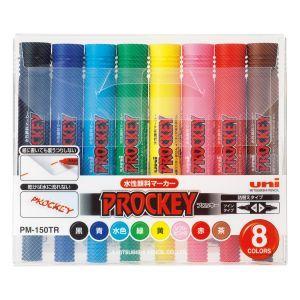 三菱鉛筆 プロッキー<細字丸芯+太字角芯>8色セット PM-150TR 8C(N) PM-150TR 8CN|akibaoo