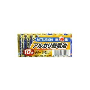 【メール便選択可】三菱 アルカリ乾電池 単4形 10本パック LR03N/10S 10P|akibaoo
