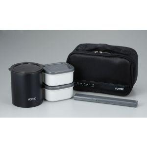 フォルテック・ランチ 保温弁当箱 640ml ブラック FLR-5957|akibaoo