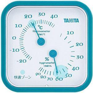 タニタ 温湿度計 ブルー TT-557