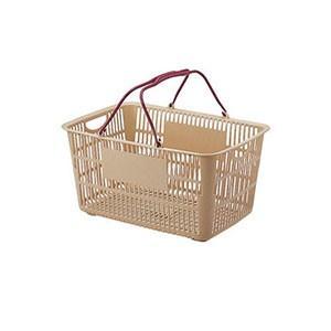 ショッピングバスケット U-33 ベージュ/エンジ ASYF303 akibaoo