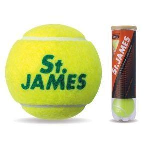 ダンロップ DUNLOP 硬式 テニス ボール セント・ジェームス プレッシャーライズド ボール 4個入りボトル ST.JAMES|akibaoo