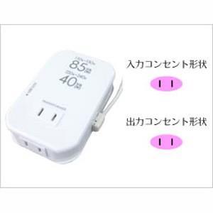 海外用薄型2口変圧器 WT-76M AC110-130V 85W AC220-240V 40W+USB|akibaoo