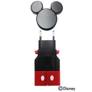 【取寄品 出荷:約4−9日 土日祭日除く】ミッキーマウスをイメージした海外旅行用変換プラグ
