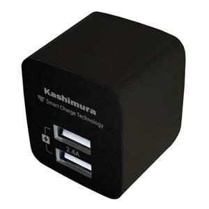 AC充電器 2.4A USB2P IC AJ-555 akibaoo
