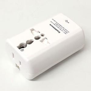 海外旅行用2口電源プラグ A/B/F/C/O変換 USB2.1A TI-165|akibaoo