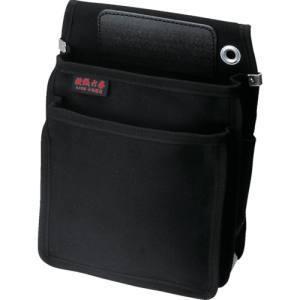 ワークタイムwork time 綾織 作業用腰袋 クロ KCN-02 BBKの商品画像|ナビ