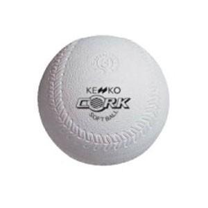 ナガセケンコー KENKO ソフトボール3号コルク芯 1球入り|akibaoo
