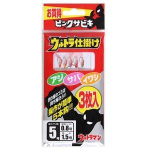 【メール便選択可】オージーケー OGK ウルトラ仕掛け(ピンクサビキ3枚入) 5号 US185|akibaoo