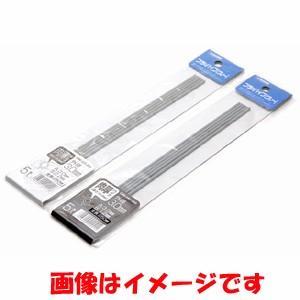 【メール便選択可】ウェーブ OM-233 プラ=パイプ グレー 肉薄 経5.5mm 5本入 WAVE|akibaoo