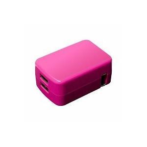 USB充電器 2.4A ピンク IPA-24U2/PK|akibaoo