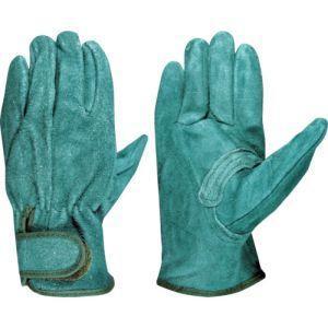 富士グローブ 5364 牛床革手袋 EX-380 グリーン Mの画像