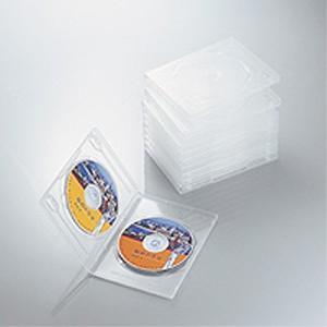 DVDトールケース 両面収納(10枚パック・クリア) CCD-DVD06CR|akibaoo
