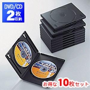 DVDトールケース 両面収納(10枚パック・ブラック)CCD-DVD06BK|akibaoo