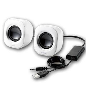 エレコム MS-P08UWH USBスピーカー ホワイト|akibaoo