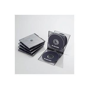 CD/DVDプラケース/4枚収納/5パック/ブラック CCD-JSCNQ5CBK|akibaoo