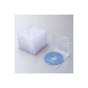 エレコム CCD-JSCN10CR CD/DVDプラケース 1枚収納 10パック クリア|akibaoo