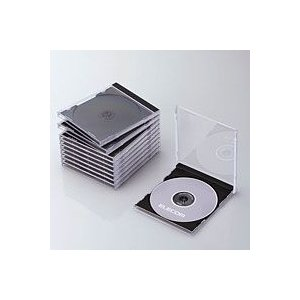 エレコム CCD-JSCN10BK CD/DVDプラケース 1枚収納 10パック ブラック|akibaoo