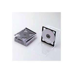 エレコム CCD-JSCNW5BK CD/DVDプラケース 2枚収納 5パック ブラック|akibaoo