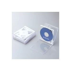 エレコム CCD-JSCNW5WH CD/DVDプラケース 2枚収納 5パック ホワイト|akibaoo