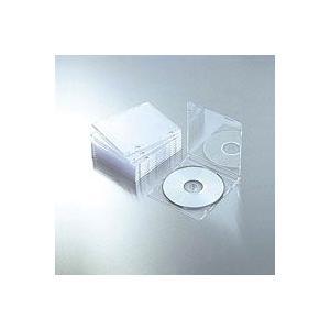 エレコム CCD-JSCS10CR CD DVDスリムプラケース 1枚収納 10パック クリア|akibaoo