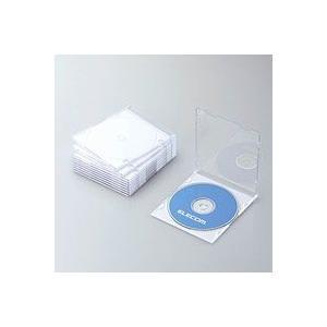 CD/DVDスリムプラケース/1枚収納/10パック/ホワイト CCD-JSCS10WH|akibaoo