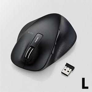 ワイヤレスマウス 無線 2.4Ghz 5ボタン BlueLED Lサイズ 握りの極み ブラック M-XGL10DBBK|akibaoo