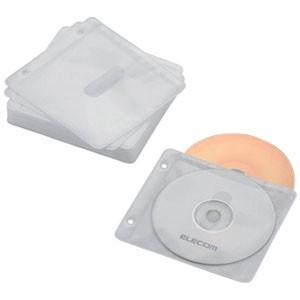 エレコム CCD-NBWB60WH Blu-ray/CD/DVD対応 不織布ケース 2穴付 60枚収納 ホワイト|akibaoo