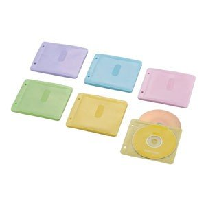 エレコム CCD-NBWB60ASO Blu-ray/CD/DVD対応 不織布ケース 2穴付 60枚収納 ミックス|akibaoo