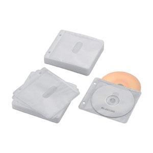 エレコム CCD-NBWB120WH 不織布ケース Blu-ray CD DVD対応 2穴 両面収納 60枚入 ホワイト|akibaoo