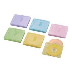 エレコム CCD-NBWB120ASO Blu-ray/CD/DVD対応 不織布ケース 両面収納 2穴付 60枚入 120枚収納 ミックス|akibaoo