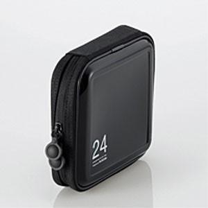 CD/DVDケース/セミハード/ファスナー付/24枚入/ブラック CCD-H24BK|akibaoo