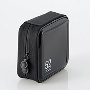CD/DVDケース/セミハード/ファスナー付/52枚入/ブラック CCD-H52BK|akibaoo