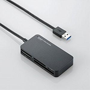 エレコム MR3-A006BK リーダライタ USB3.0対応 SD microSD MS XD CF対応 スリムコネクタ ブラック|akibaoo