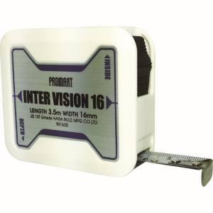 原度器 プロマート インタービジョン16 3.5m IN1635 コンベックス メジャー 巻尺