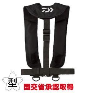 ダイワ DAIWA 釣り用品・NEW グローブライド インフレータブルライフジャケット (国土交通省承認) TYPE-A ブラック DF-2608|akibaoo