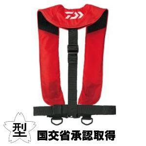 ダイワ DAIWA 釣り用品・NEW グローブライド インフレータブルライフジャケット (国土交通省承認) TYPE-A レッド DF-2608|akibaoo