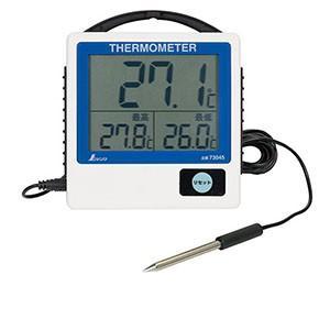 シンワ測定 SHINWA デジタル温度計 G-1 最高・最低 隔測式 防水型 73045