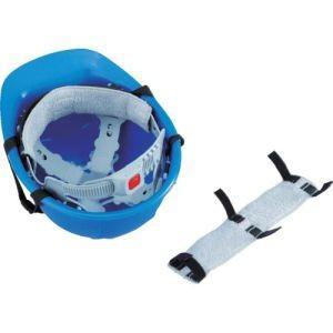 ヘルメット取付式汗取りデコパット 白 タオル地 NO.67-WH