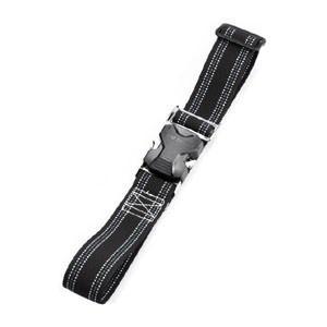 トーヨーセフティー ワンタッチバックル式 胴ベルト 黒地 青白ライン No.OT-1019|akibaoo