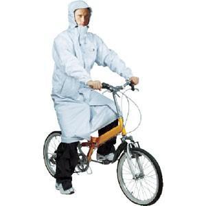 2WAYサイクルコート シルバー Lサイズ CY002-71-L 自転車 レインコート 男女 レディースメンズ カッパ雨具 akibaoo
