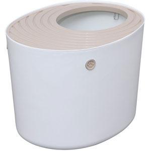 上から猫トイレ ホワイト PUNT-530の商品画像|ナビ