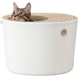 上から猫トイレ プチ ホワイト PUNT-430|akibaoo