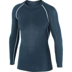 冷感インナー 冷感消臭パワーストレッチ長袖クルーネックシャツ 黒 LLサイズ JW-623|akibaoo