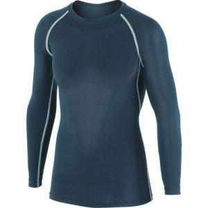 冷感インナー 冷感消臭パワーストレッチ長袖クルーネックシャツ 黒 Mサイズ JW-623|akibaoo