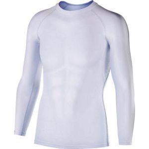 冷感インナー 冷感消臭パワーストレッチ長袖クルーネックシャツ 白 Mサイズ JW-623|akibaoo