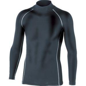 【メール便選択可】おたふく手袋 BTパワーストレッチハイネックシャツ ブラック Mサイズ JW-170|akibaoo