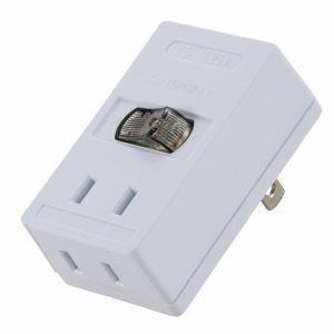 オーム電機 LEDスイッチ付タップ 00-1416 HS-TMP2A2-W akibaoo
